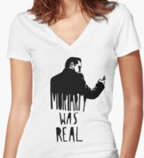 Moriarty Was Real - Black Women's Fitted V-Neck T-Shirt