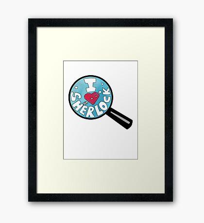 I HEART SHERLOCK Framed Print
