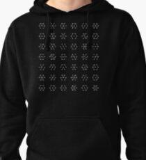 Nodal Patterns Tee Pullover Hoodie