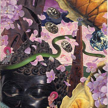 Hydrangea Petal Rain Under the Bodhi Tree by Anadae