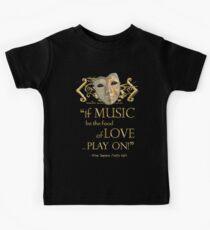 Shakespeare Twelfth Night Love Music Quote Kids Tee