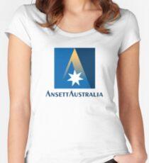 Ansett Australia - 1990's Livery Women's Fitted Scoop T-Shirt