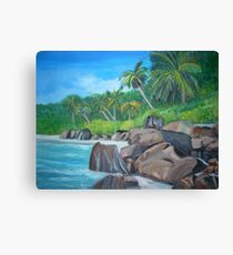 Island of the Seychelles Canvas Print