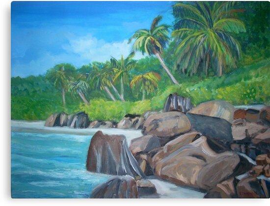 Island of the Seychelles by Teresa Dominici