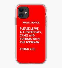 Höfliche Nachricht iPhone-Hülle & Cover