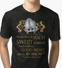 Shakespeare Romeo & Juliet Sweet Sorrow Quote Tri-blend T-Shirt