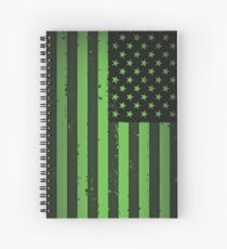 Amerikanische Idiot Flagge - Green Day Spiralblock