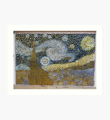 Van Gogh's 'Starry Night' expressed in hardware Art Print