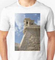 Maltese Knights Legacy - Fort St Elmo Bastion Watch Tower T-Shirt