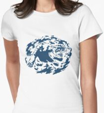 Water Based Ink Womens Fitted T-Shirt