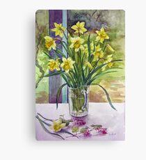 Daffodils in a jug Canvas Print