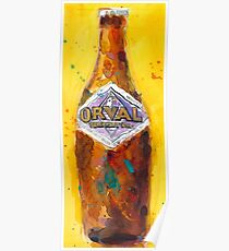 Orval Trappist Ale Beer Watercolor - Belgium Beer Art Print  Poster