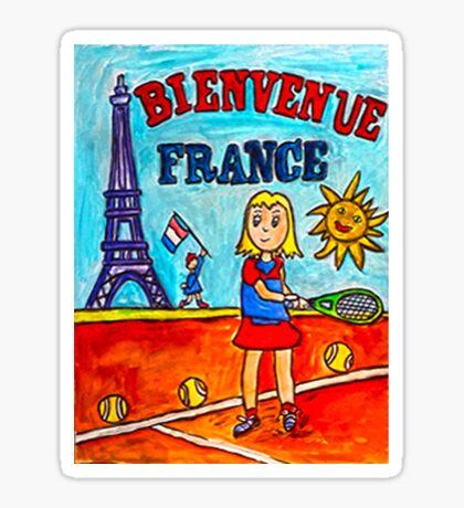 Tennis Bienvenue France Sticker