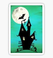 Haunted House Sticker