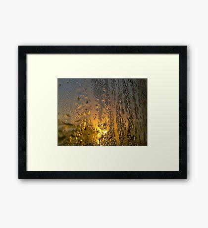 Condensate Sunrise Framed Print
