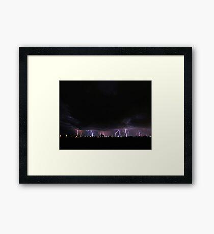 Severe Thunderstorm Framed Print