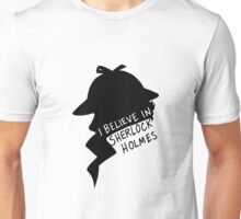 Believe in Sherlock Profile Unisex T-Shirt