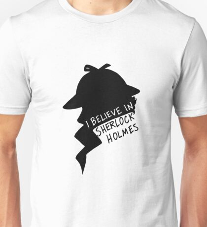 Believe in Sherlock Profile Unisex T-Shirt