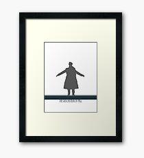 The Reichenbach Fall Framed Print