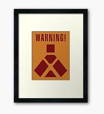 Wampa Warning - English Framed Print