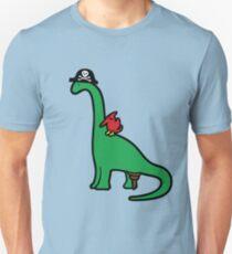 Piraten-Dinosaurier - Brachiosaurus Slim Fit T-Shirt