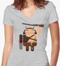 Army of Darkness BugDroid Women's Fitted V-Neck T-Shirt