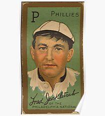 Benjamin K Edwards Collection Fred Jacklitsch Philadelphia Phillies baseball card portrait 001 Poster
