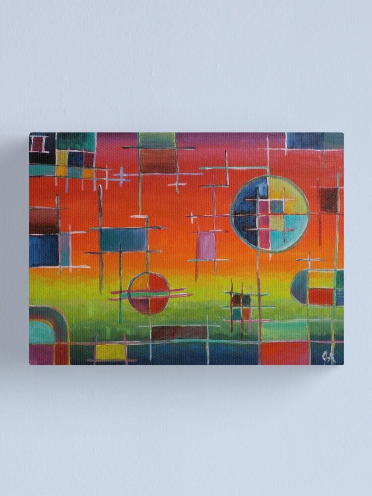 Alternate view of Circuit Horizon Canvas Print