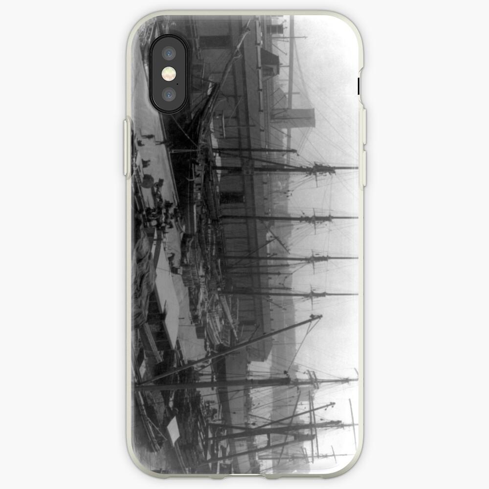 Vintage Ships at Dock NYC Photograph (1908) Funda y vinilo para iPhone