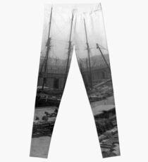 Legging Vintage Ships at Dock NYC Photograph (1908)