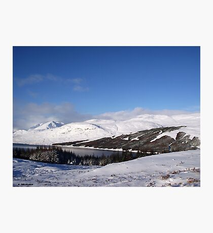 Blue and White of Scotland Photographic Print