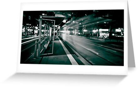 Bourke St. Tram Stop by Paul Louis Villani