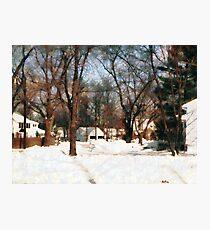Winter on My Street Photographic Print