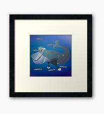 Wc head whale Framed Print
