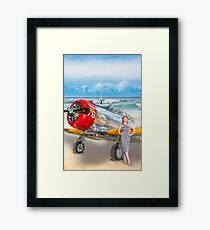 Miss Madison Louise - beach warbird Framed Print