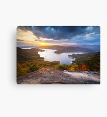 Blue Ridge Mountains Sunset - Jocassee Gold Canvas Print