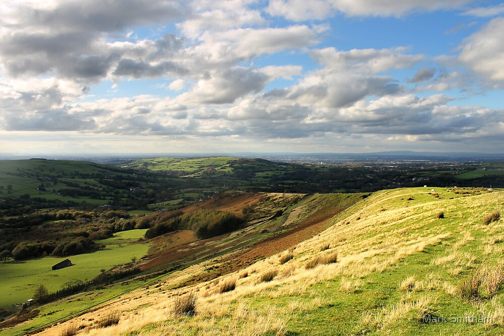 Coombes Edge towards Manchester, Sunny Day by Mark Smitham