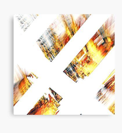 Burning Logs Canvas Print