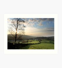 Sunset over Old Glossop (Landscape) Art Print