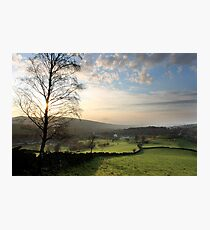 Sunset over Old Glossop (Landscape) Photographic Print