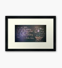 Dalai Lama Quote with Cosmos Framed Print