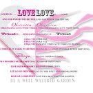 good is  . . . LOVE ~ LOVE . . . is good. by evon ski