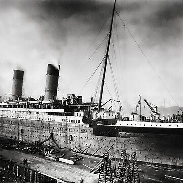 Titanic - Fitting out, Thompson Drydock by Zedder