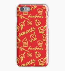 Sweets red pattern iPhone Case/Skin
