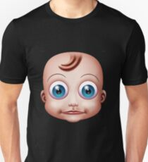 Baby Doll Head Big Eyes Unisex T-Shirt
