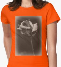 Gray rose Womens Fitted T-Shirt