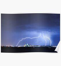 Industrial Lightning Poster