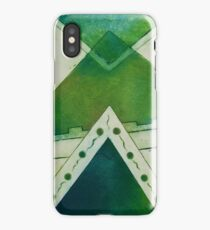 Unbalanced Triangles Green Version iPhone Case/Skin