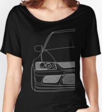 Evo outline - white Women's Relaxed Fit T-Shirt