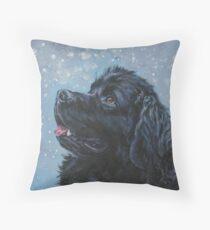 Newfoundland Dog Fine Art Painting Throw Pillow